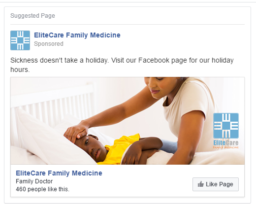 medical clinic facebook ad