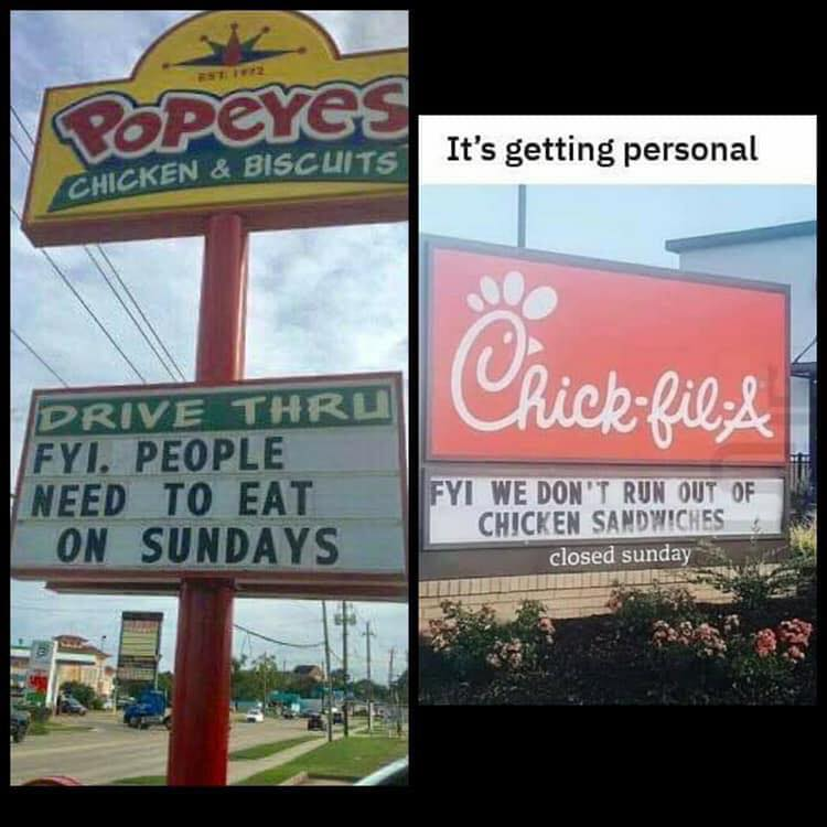 Momentum Consulting Lessons Learned From Popeye S And Chick Fil A