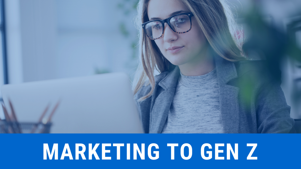 woman looking at computer, momentum consulting, marketing to gen z