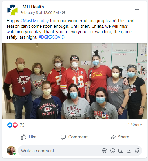 LMH Health Mask Monday